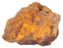 Kiezelsteen van limonite (ijzererts) minerale steen stock fotografie