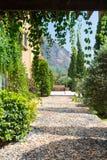 Kiezelsteenweg Toscanië royalty-vrije stock foto's