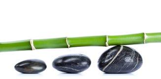 Kiezelstenen en bamboe Royalty-vrije Stock Foto