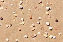 Kiezelstenen op strand Stock Foto's