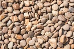 Kiezelstenen of steentextuur Stock Afbeelding