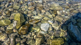 Kiezelstenen in Water Royalty-vrije Stock Foto