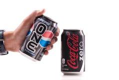 Kiezend Pepsi  Stock Foto