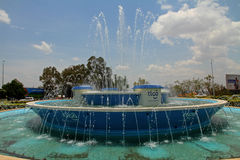 Kigali Downtown Traffic Circle Fountain Royalty Free Stock Image