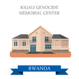 Kigali Genocide Memorial Centre in Rwanda vector i Royalty Free Stock Photos