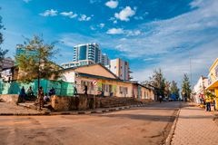Kigali, Rwanda - September 21, 2018: A generic street scene with royalty free stock photos