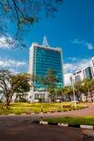 Kigali, Rwanda - 21 septembre 2018 : Plaza de pension et la ville images libres de droits