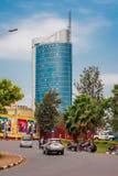 Kigali, Rwanda - 20 septembre 2018 : Un rond point près de la ville photographie stock libre de droits