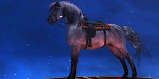 Kiger silbernes Pferd vektor abbildung