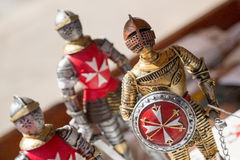 Kights statuettes. Souvenier statuettes of Maltese Knights Royalty Free Stock Photo