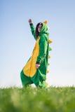 Kigurumi дракона девушки Стоковое Фото