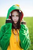 Kigurumi del drago della ragazza Fotografia Stock