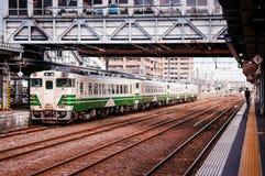 KiHA 48 serie, östligt drev för JR, Akita, Tohoku, Japan Fotografering för Bildbyråer