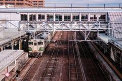 KiHA 48 serie, östligt drev för JR, Akita, Tohoku, Japan Arkivfoto