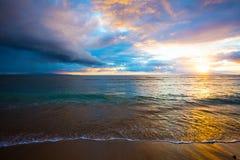 Kihei Beach Sunrise Royalty Free Stock Images