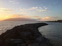 Kihei. Evening sunset Royalty Free Stock Photography