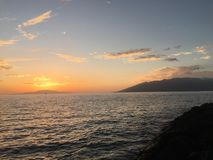 Kihei. Evening sunset Royalty Free Stock Images