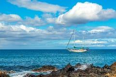 Kihei segelbåt Arkivbild