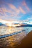 Kihei Sunset on Beach Royalty Free Stock Photos