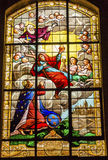 Kiing Christ Stained Glass Saint Louis En L'ile Church Paris France Royalty Free Stock Photos