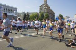 Kijów, 3 d zawody międzynarodowi maraton Fotografia Royalty Free