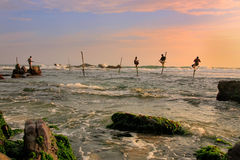 Kijów rybacy w Unawatuna, Sri Lanka Obraz Stock
