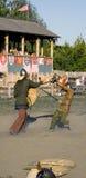 KIJÓW, SIERPIEŃ - 28: Retro Wojenny festiwal na Sierpień 28, 2011 w Kijów, obrazy stock