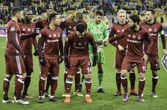 KIJÓW, UKRAINA - DEC 06: Generał drużyny fotografii Besiktas futbolu śliwki obraz stock