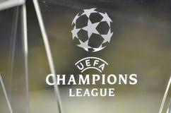 KIJÓW, UKRAINA - DEC 06: Logo i emblemat UEFA Cham Obraz Stock