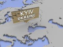 Kijów, Ukraina - demonstracje ilustracji