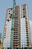 Kijów Ukraina, Kwiecień, - 08, 2016: Budowa z żurawiem Obrazy Royalty Free