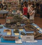 KIJÓW, UKRAINA: Kyiv Szalkowych modelów Fest 2016 Zdjęcie Stock