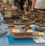 KIJÓW, UKRAINA: Kyiv Szalkowych modelów Fest 2016 Szalkowy model Obrazy Stock