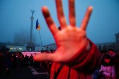 KIJÓW UKRAINA, LISTOPAD, - 24: EuroMaidan obraz stock