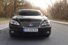 Kijów Ukraina, Listopad, - 5, 2018: Lexus ES samochód obraz royalty free