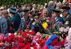 Kijów Ukraina, Maj, - 09, 2015: Druga Wojna Światowa weterani Zdjęcia Stock