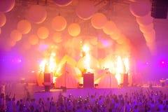 KIJÓW UKRAINA, MAJ, - 5: Furory Innerspace przedstawienie przy NEC na Maju 5, 2012 w Kijów, Ukraina (ID&T) Zdjęcie Stock