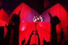KIJÓW UKRAINA, MAJ, - 5: Furory Innerspace przedstawienie przy NEC na Maju 5, 2012 w Kijów, Ukraina (ID&T) Fotografia Stock