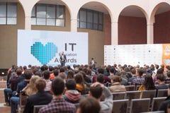 KIJÓW UKRAINA, Marzec, - 21, 2015: IT dżem 2015 - technologie informacyjne konferencja Zdjęcie Royalty Free