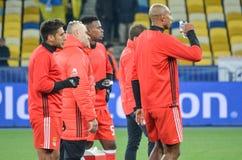 Kijów UKRAINA, OCT, - 19, 2016: Gracz podczas UEFA Wstawia się L Zdjęcia Royalty Free