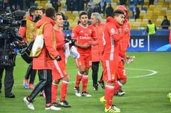 Kijów UKRAINA, OCT, - 19, 2016: Gracz podczas UEFA Wstawia się L Obrazy Stock