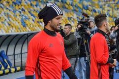 Kijów UKRAINA, OCT, - 19, 2016: Gracz przed UEFA Wstawia się L Obrazy Stock