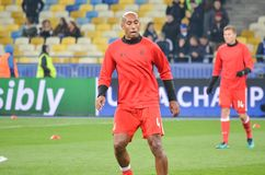 Kijów UKRAINA, OCT, - 19, 2016: Luisao podczas UEFA Wstawia się L Obrazy Stock