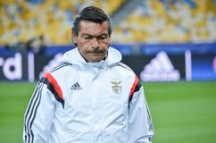 Kijów UKRAINA, OCT, - 19, 2016: Trener przed UEFA Wstawia się Le Obrazy Royalty Free