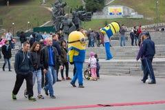 Kijów Ukraina, Październik, - 01, 2017: Animatorzy w kostiumach kolonel na niezależności Obciosują Zdjęcie Stock