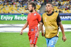 Kijów UKRAINA, SEP, - 13, 2016: Allan podczas UEFA Wstawia się Le Fotografia Royalty Free