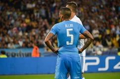 Kijów UKRAINA, SEP, - 13, 2016: Allan podczas UEFA Wstawia się Le Zdjęcia Royalty Free