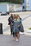 Kijów Ukraina, Sierpień, - 24, 2016: Dziewczyny w krajowych kostiumach Obraz Stock