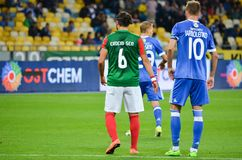 KIJÓW UKRAINA, Sierpień, - 24, 2017: Gracza futbolu Erdem Sen CS Ma Fotografia Royalty Free