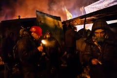 KIJÓW UKRAINA, Styczeń, - 24, 2014: Mszalni antyrządowi protesty Fotografia Stock